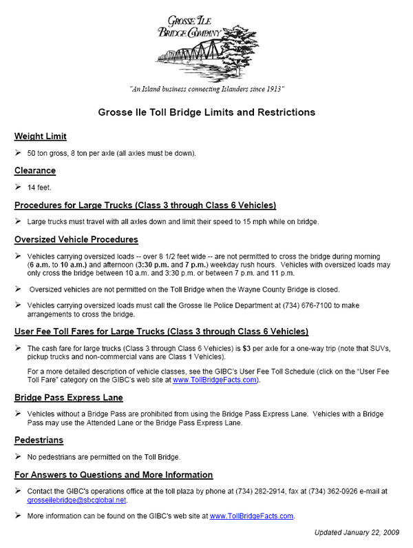 GIBC restrictions 2009 January 22