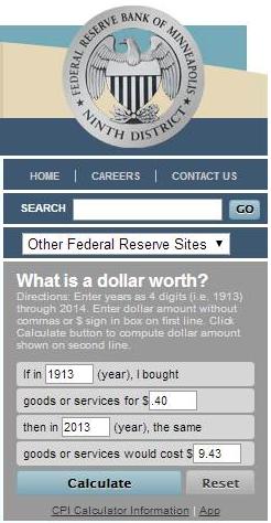 GIBC dollar toll fare worth1913 to 2013